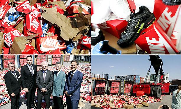 Zehntausende Nike Imitate konfisziert | 1st blue Das